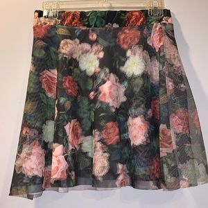 3 for $15 Flowery skater skirt.
